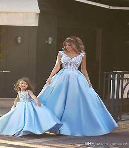 2016 luxury mother daughter dress matching sleeves ball With matching mother daughter wedding dresses