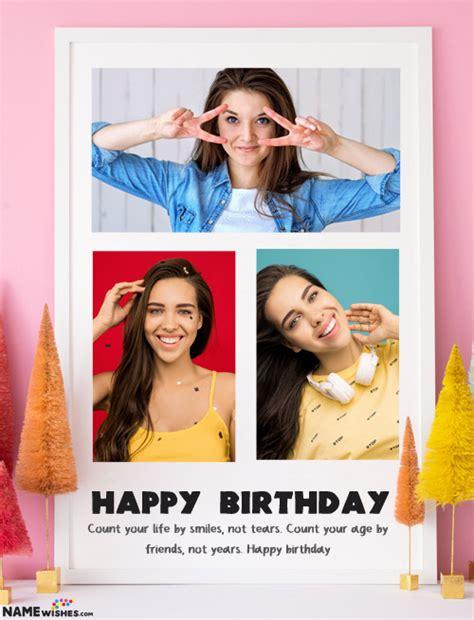 happy birthday collage    custom wishes