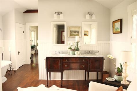 Gray Bathroom Paint Colors Cottage bathroom Benjamin Moore Horizon For the Love of a House