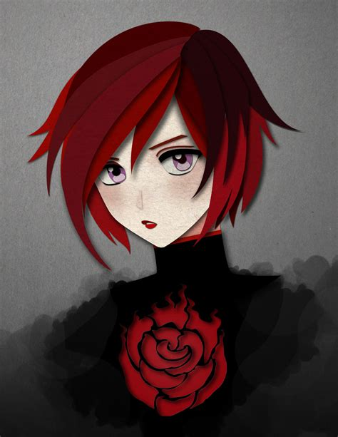 ruby rose rwby fanart ruby rose rwby by cararacap on deviantart