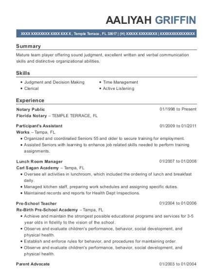 notary public resumes resumehelp