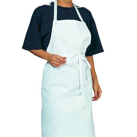 tablier de cuisine blanc tablier cuisine à bavette bistro blanc coton sergé