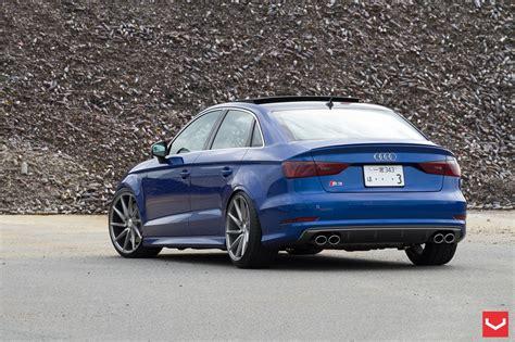 audi  sedan stanced  vossen wheels autoevolution
