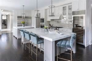 counter stools for kitchen island gray kitchen island with blue velvet tufted counter stools