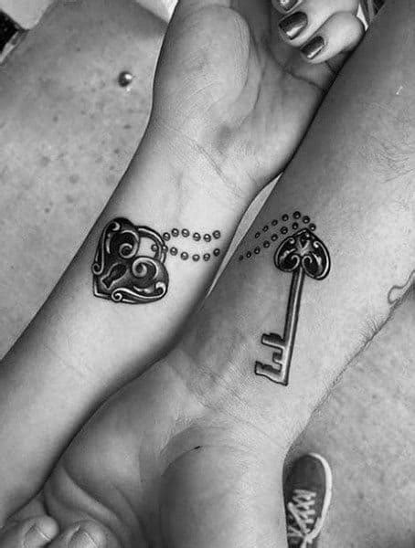 Top 100 Best Matching Couple Tattoos - Connected Design Ideas