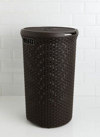 bathroom design brown curver 48 litre laundry basket bathroom