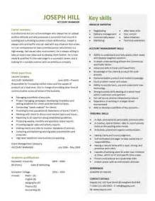 account manager description for resume account manager cv template sle description resume sales and marketing cvs