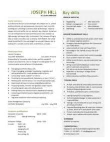 Account Manager Cv Template Sample Job Description
