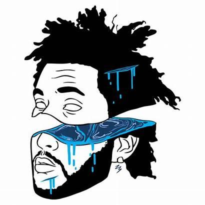 Weeknd Drawing Rapper Cartoon Head Drawings Dope