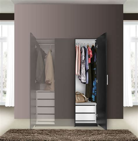 Slim Wardrobe Closet by Alta Narrow Wardrobe Closet Right Door 2 Interior