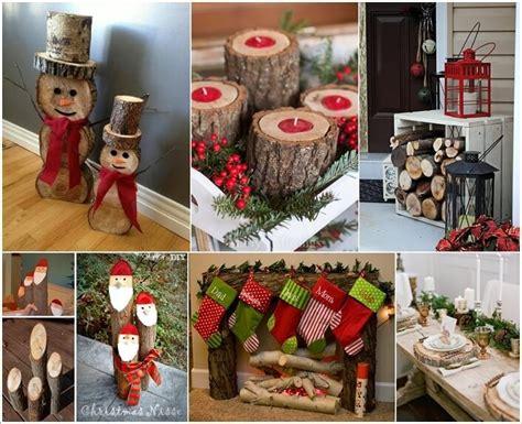 making log christmas decorations christmas