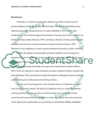 personal philosophy  nursing statement  topics   written essays  words