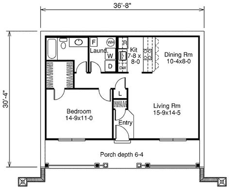 one bedroom house floor plans 809 square 1 bedrooms 1 batrooms on 1 levels house plan 1438 all house plans