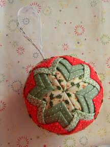 Fabric Christmas Ball Ornament