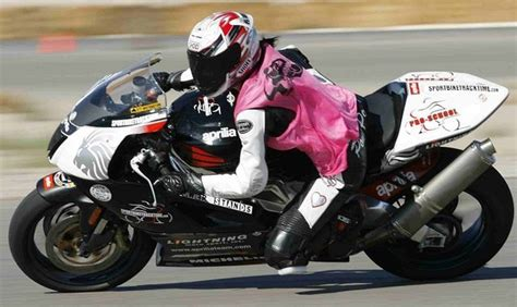 Pink Motorcycle Racing Outfit
