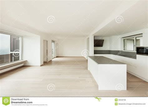 Interior, Penthouse Totally Empty Royalty Free Stock Image