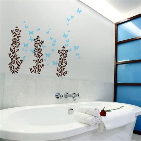 Wall Decor For Small Bathroom by 17 Decorative Bathroom Wall Decals Keribrownhomes