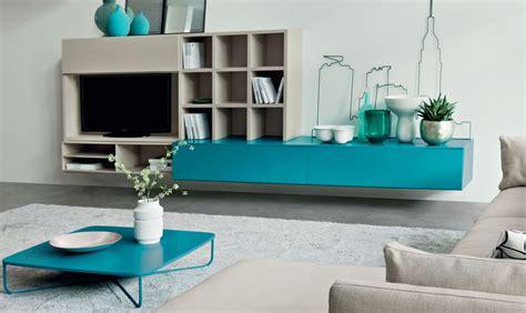composizione mobili soggiorno idee per un soggiorno moderno con libreria e porta tv