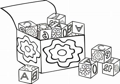 Blocks Coloring Block Pages Letter Building Toys