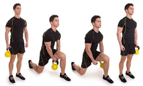 kettlebell lunge exercise kettlebells leg workout swing workouts pas loop