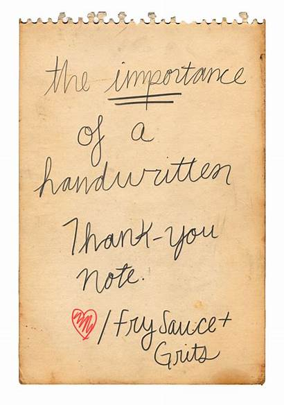 Thank Notes Handwritten Note Meaningful Why Tips