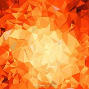 Red Orange Polygonal Pattern Background Template ...