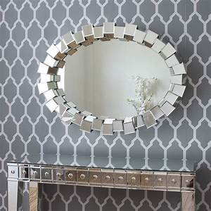 contemporary block all glass mirror by decorative mirrors ...