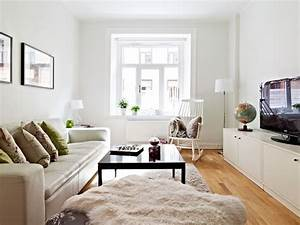 A small, neutral apartment of 50 square meters