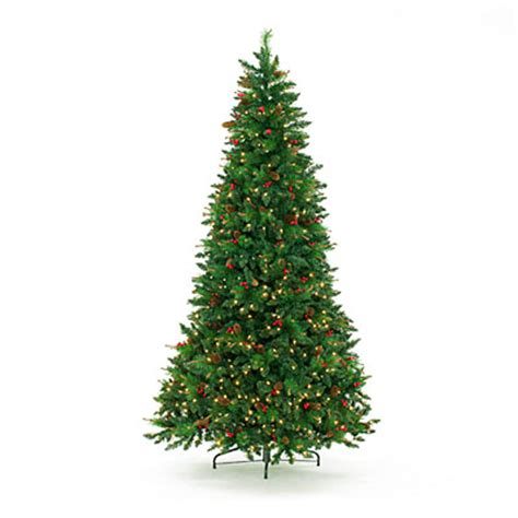 large artificial christmas trees with lights