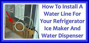 How To Install A Water Line To Your Refrigerator