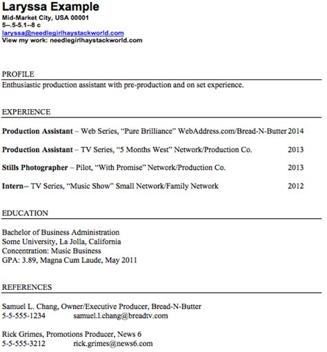 Tv Production Assistant Resume Sle by Pa Assistant Resume Sales Assistant Lewesmr