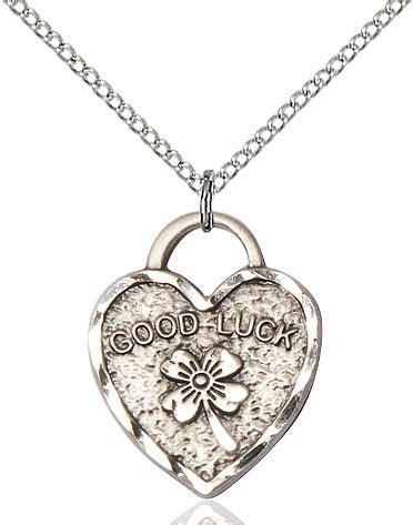 O'connors Church Supply Good Luck Shamrock Heart Pendant