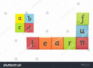 painted wooden blocks letters on them stock photo 94035226 With blocks with letters on them