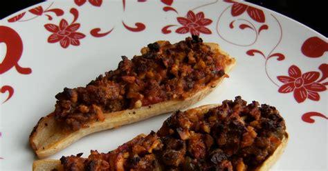 Zucchini Boats No Meat by My Retro Kitchen Ground Meat Stuffed Zucchini Boats