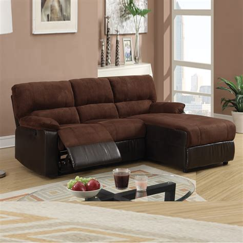 small sectional sofa with recliner small chocolate microfiber loveseat recliner right chaise