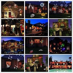 Halloween Deko Außen : led projektionslampe halloween weihnachtsbeleuchtung ~ Jslefanu.com Haus und Dekorationen