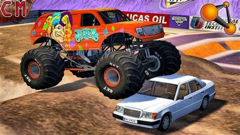 monster truck jam youtube monster truck fun crashes monster jam beamng drive 2