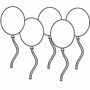 Free coloring pages of 6 balloons