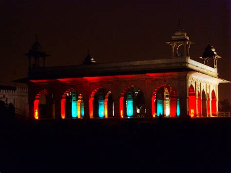 delhi walk with fort light sound show