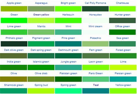 green colors list sensible nails notes color wheel