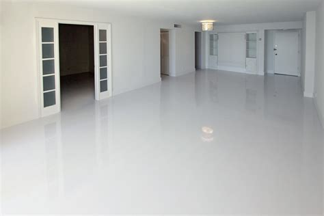 white glossy floor tiles white laminate flooring spaces modern with ocean view