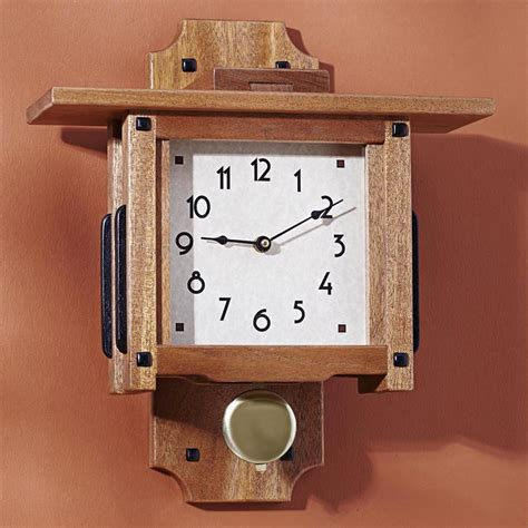 greene greene wall clock woodworking plan  wood magazine