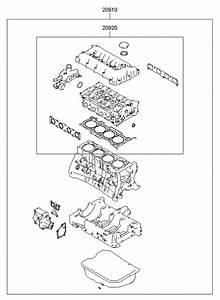 2012 Hyundai Sonata Hybrid Engine Gasket Kit