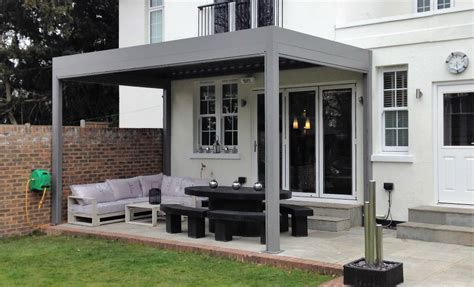 louvered roof canopies pergolas   remote controlled
