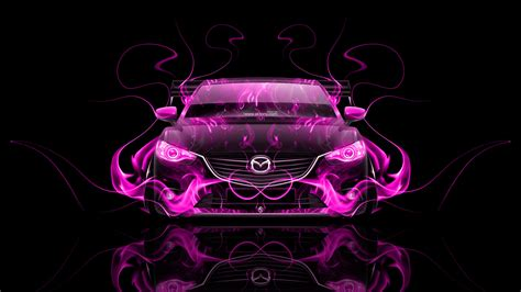 mazda  jdm tuning front fire abstract car  el tony
