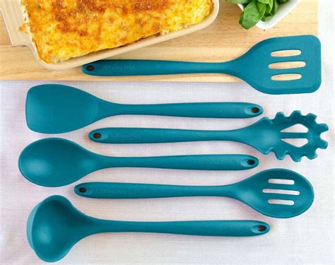 colored kitchen utensils teal color kitchen accessories feel the home 2332