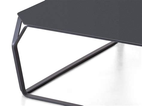 small square coffee table  colored metal tray
