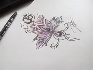 Fleur Lotus Tatouage : dessin de tatouage fleur de lotus kolorisse developpement ~ Mglfilm.com Idées de Décoration