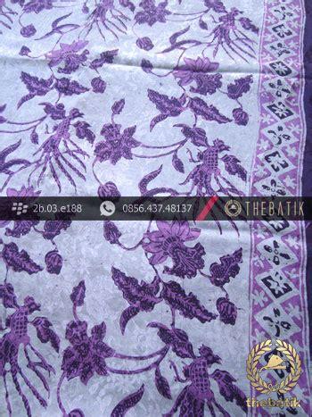 jual kain batik sutera pesisiran motif buketan ungu