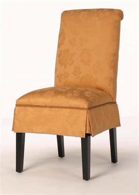 parsons dining chairs with nailheads hyannis parsons dining chair rolled back and nailhead trim